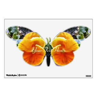 Natural botánico de los pensamientos anaranjados v vinilo
