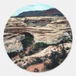 Natural Bridges National park Round Stickers