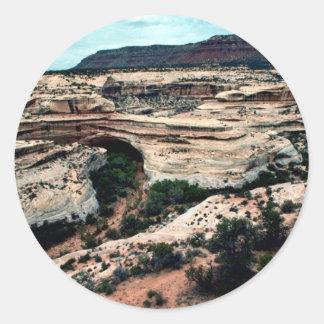 Natural Bridges National park Classic Round Sticker