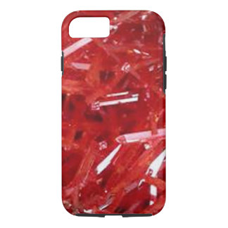 natural bright red lead mine crystals iphone7 case