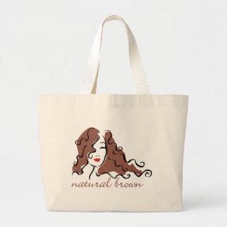 Natural brown jumbo tote bag