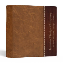 Natural Brown leather look Binder