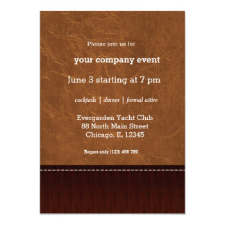 Natural Brown leather look Card