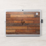 """Natural brown rustic wood texture planks pattern HP laptop skin<br><div class=""""desc"""">Image of rustic brown wood texture planks pattern.</div>"""