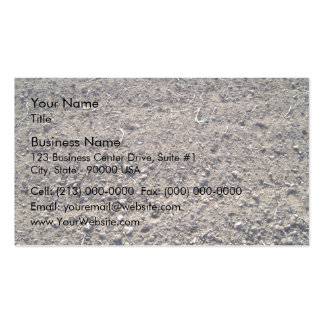 Natural brown sand gravel business card