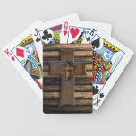 Natural Brown Wooden Cross Bicycle Card Deck