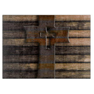 Natural Brown Wooden Cross Cutting Boards