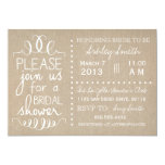 Natural Burlap Bridal Invitation