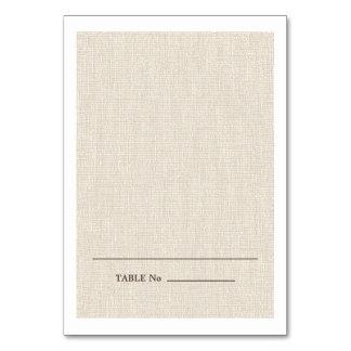 Natural Burlap Texture Escort Wedding Place Cards