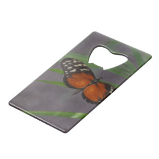 Natural Butterfly Credit Card Bottle Opener