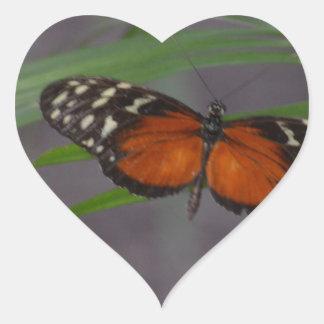 Natural Butterfly Heart Sticker