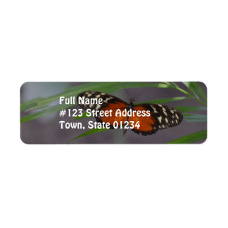 Natural Butterfly Label