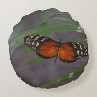 Natural Butterfly Round Pillow