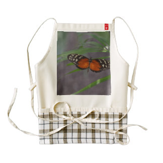 Natural Butterfly Zazzle HEART Apron