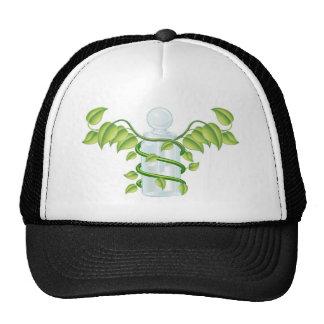 Natural caduceus bottle concept mesh hats