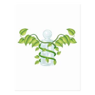 Natural caduceus bottle concept post cards