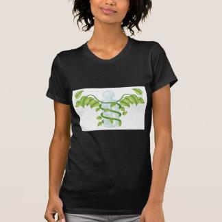 Natural caduceus bottle concept tee shirts