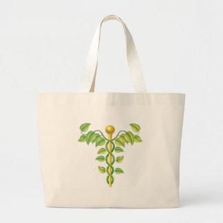 Natural caduceus concept canvas bags