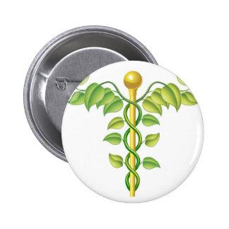 Natural caduceus concept pin