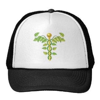 Natural caduceus concept mesh hats