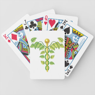Natural caduceus concept bicycle poker cards