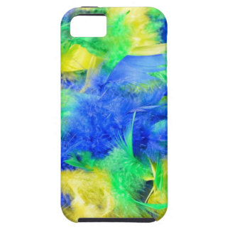 Natural carnival feathers boa iPhone 5/5S cases