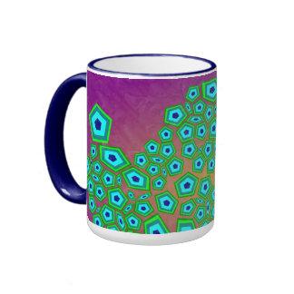 Natural Cellular Modern Art Pattern Ringer Mug