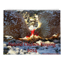 Natural Chicken Keeping '14 Minimalist Calendar LG