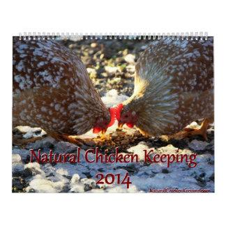 Natural Chicken Keeping '14 Minimalist Calendar LG