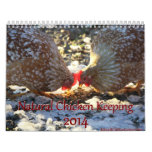 Natural Chicken Keeping 2014 Minimalist Calendar