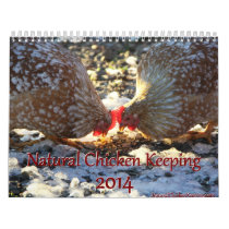 Natural Chicken Keeping 2014 Minimalist Calendar
