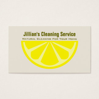 Natural Cleaning Service Business Card - Lemon