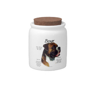 Natural Colored Boxer Meet the Breed Candy Jars
