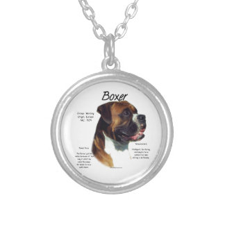 Natural Colored Boxer Meet the Breed Silver Plated Necklace