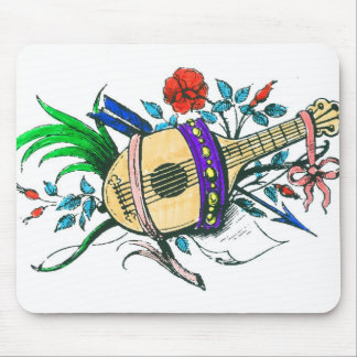Natural colored lute and plants mousepads
