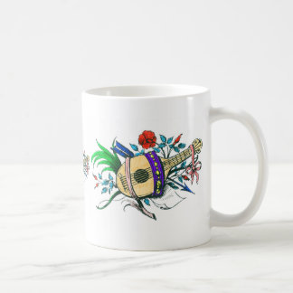 Natural colored lute and plants classic white coffee mug