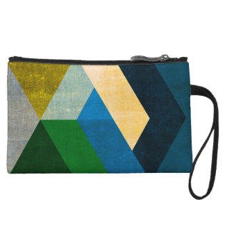 Natural Colors Abstract Geometric Mini Clutch