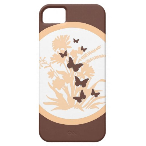 Natural colors butterfly floral iphone 5 case