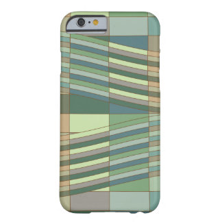 Natural Colors Wavy Rectangles Barely There iPhone 6 Case