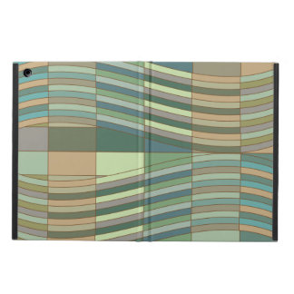 Natural Colors Wavy Rectangles Case For iPad Air