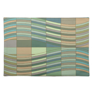 Natural Colors Wavy Rectangles Placemat