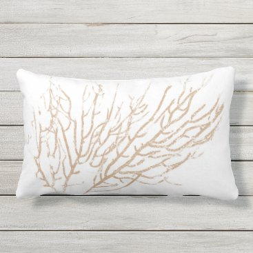 Beach Themed Natural Coral 3 Lumbar Pillow