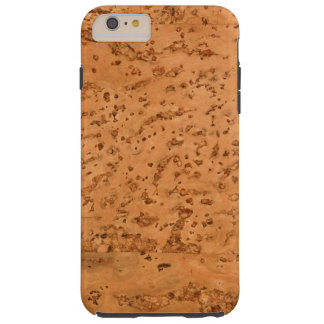Natural Cork Look Wood Grain Tough iPhone 6 Plus Case
