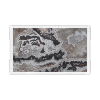 Natural Crazy Lace Agate Photo Serving Tray