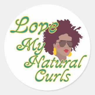 Natural Curls Classic Round Sticker