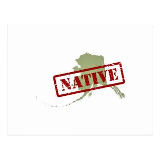 Natural de Alaska con el mapa de Alaska Postal