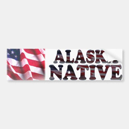 Natural de Alaska Etiqueta De Parachoque