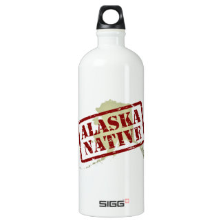 Natural de Alaska sellado en mapa