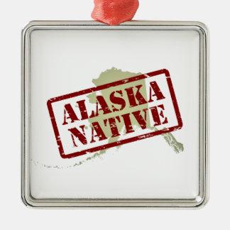 Natural de Alaska sellado en mapa Ornamentos De Navidad