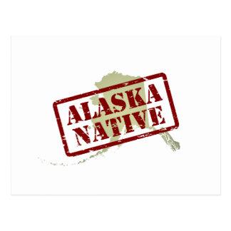 Natural de Alaska sellado en mapa Postales